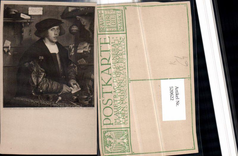 Künstler AK Hans Holbein Bildnis des Kaufmanns Gisze Mütze