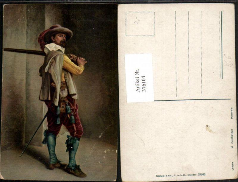 Stengel Co 29263 Künstler Meissonier Musketeer Musketier Mann m. Lanze Fe