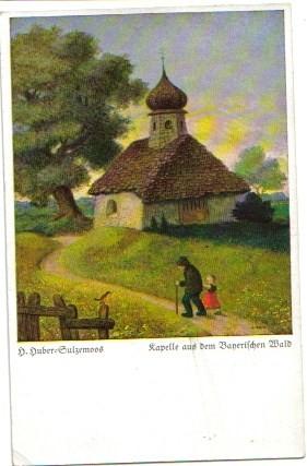 1831;KünstlerAK Sulzemoos Kappelle a d. Bayrischen Wald