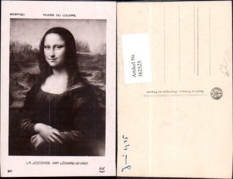 Künstler Ak Leonardo de Vinci Mona Lisa