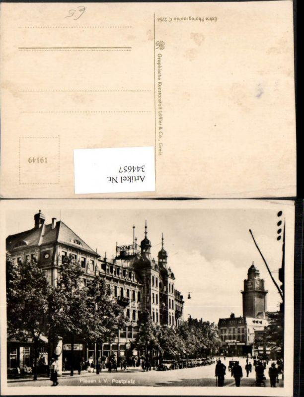 Plauen im Vogtland Postplatz Straßenansicht