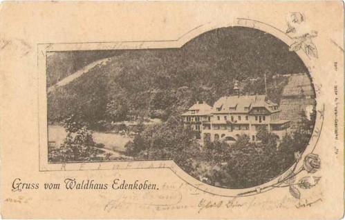 22855;Gruss v. Waldhaus Edenkoben 1902