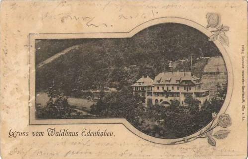 22851;Gruss v. Waldhaus Edenkoben 1900