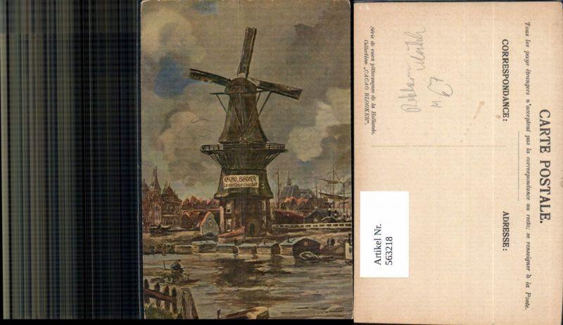 Reklame Windmühle Cacao Blooker le meilleur chocolat Schokolade Hafen Seg