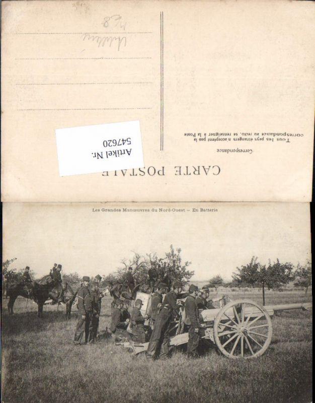 Französische Armee Nord Quest Artillerie Kanonen Geschütze Soldaten