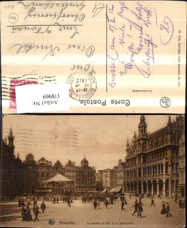 Belgien Bruxelles Brüssel La maison du Roi et la grand place