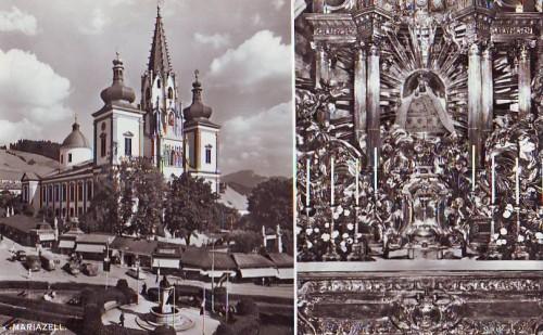 4941;Mariazell Maria Zell Ansicht Kirche