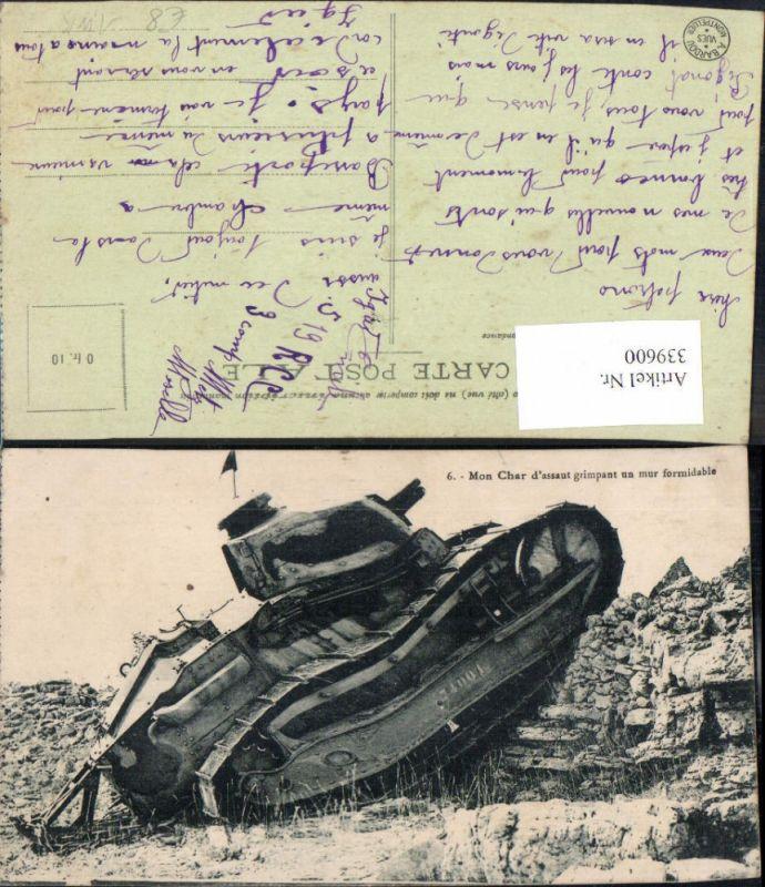 WW1 Waffen Technik Mon Char d assaut grimpant un mur formidalbe Panzer