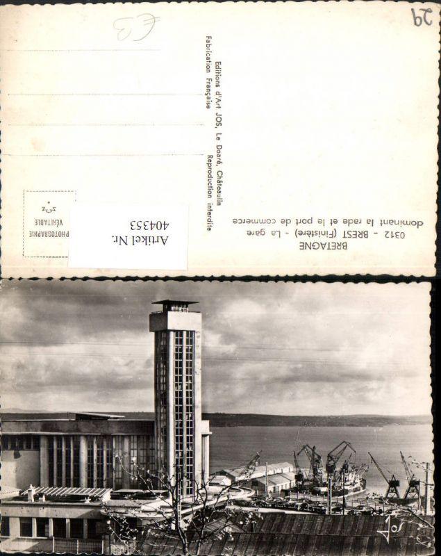 Bretagne Finistere Brest La gare dominant la rade et le port de commerce