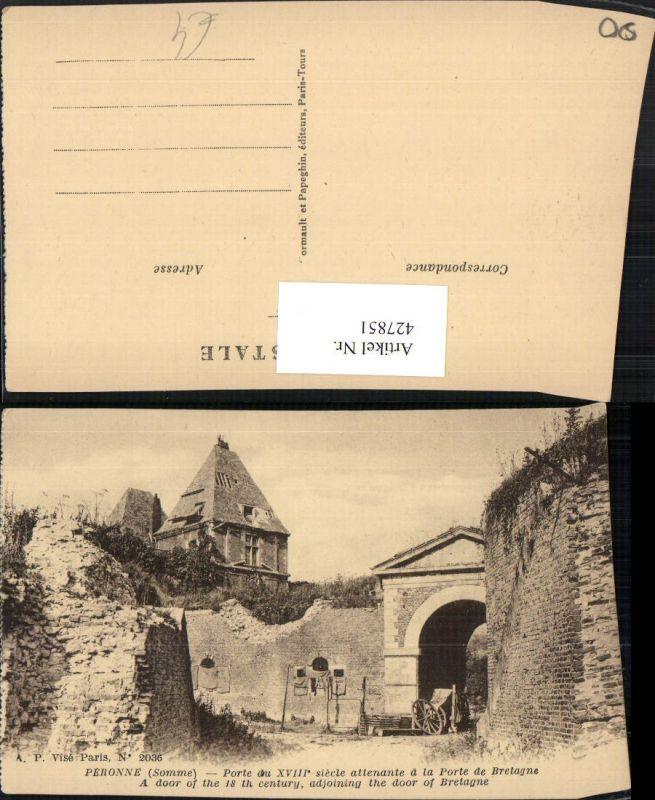Picardie Somme Peronne Porte de Bretagne Tor