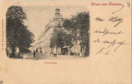 Gruß aus Giessen Partie im Seltersweg Partie 1898