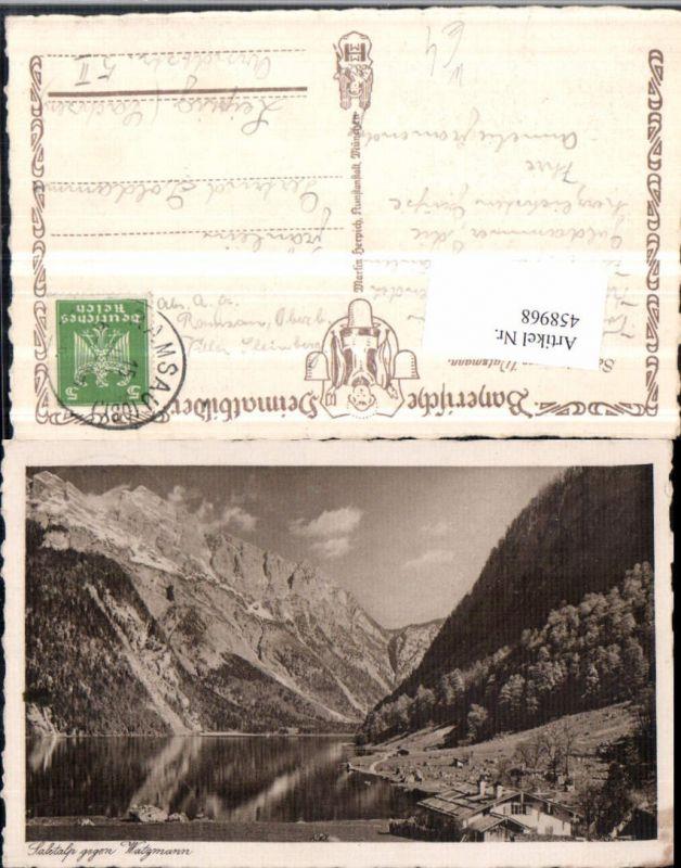 Saletalp b. Schönau See geg. Watzmann Bergkulisse