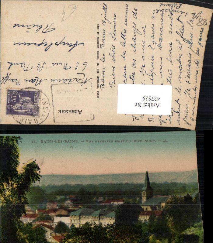 Lothringen Vosges Bains-les-Bains Vue Generale prise du Rond-Point Totale