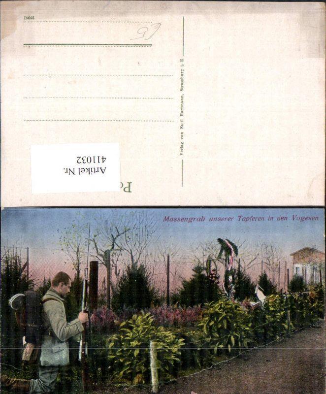 WW1 Massengrab unserer Tapferen i. d. Vogesen Tod Soldat Gräber