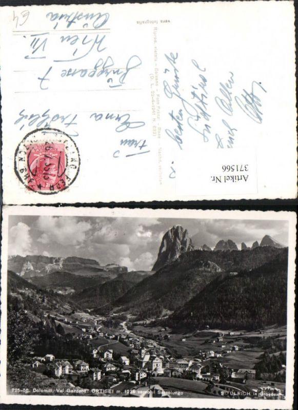 Trentino Bolzano Val Gardena Ortisei St. Ulrich in Gröden Totale Bergkuli