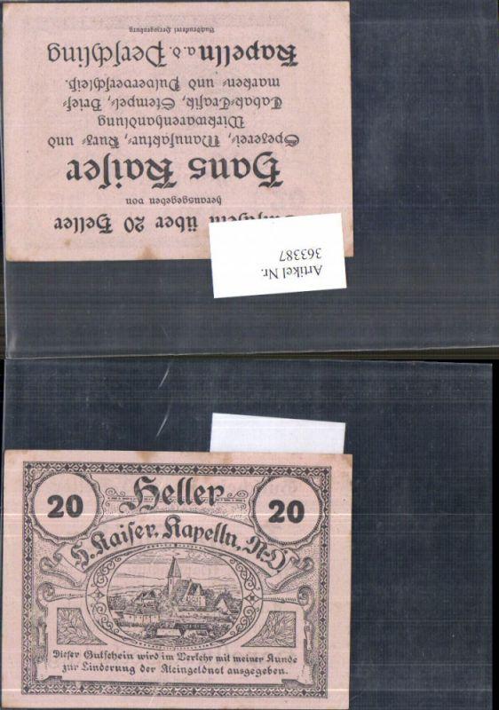 Privatnotgeld Notgeld 20 Heller Hans Kaiser Kapelln a. d. Perschling Kape