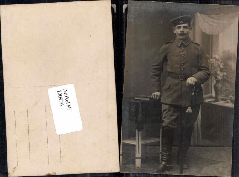 Deutscher Soldat Uniform Degen Dolch Kappe Atelier Foto