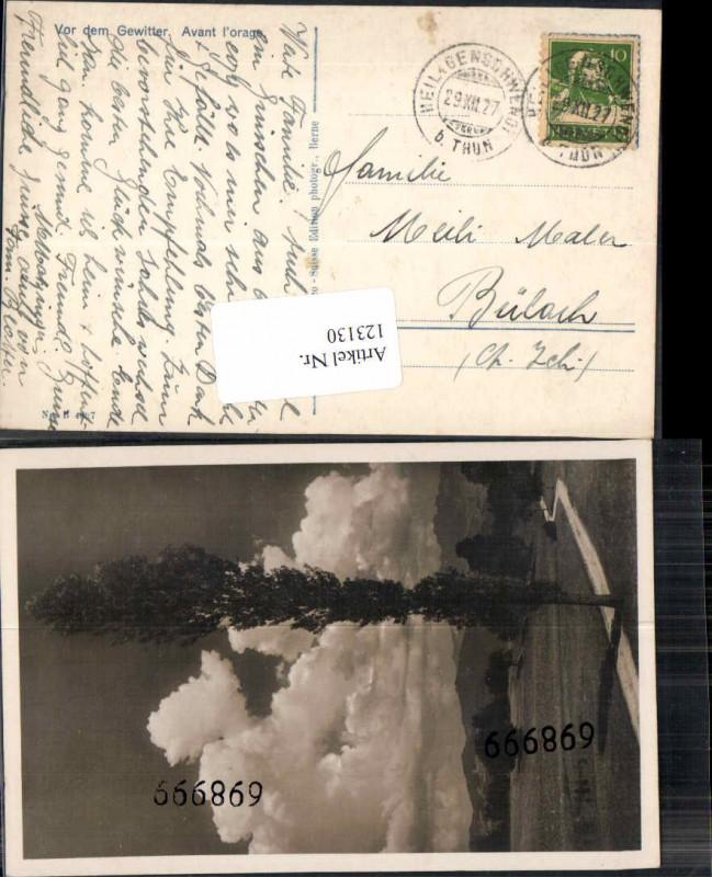 Postkarte Heiligenschwendt Thun nach Bülach Zürich