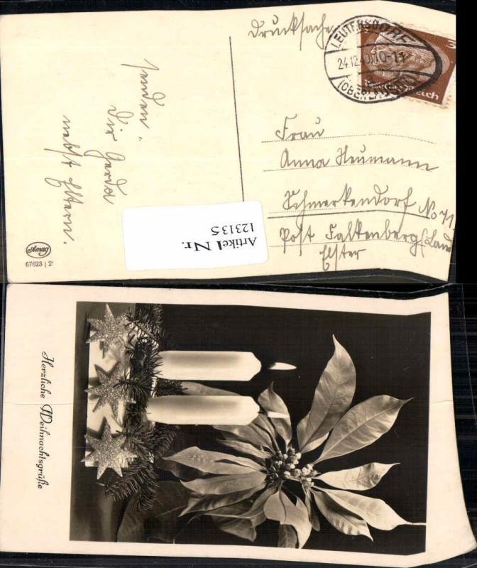 Postkarte Leutersdorf Oberlausitz nach Schmerkendorf b. Falkenberg Elster