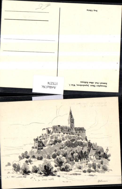 Burg Güssing Künstlerkarte A. Kollmann