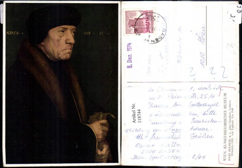 Künstler Ak Hans Holbein d. Junge John Chambers Leibarzt Heinrichs VIII E