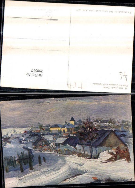 Künstler AK Frant. Hladik Zima na Ceskomoravske vysocine Totale Winterbil