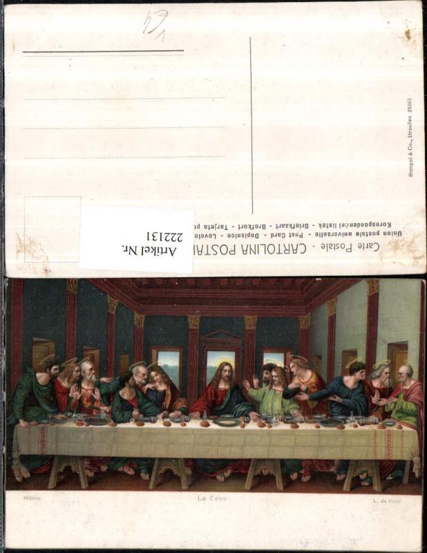 Stengel & Co 29865 Künstler Leonardo da Vinci La Cena Das Abendmahl Milan