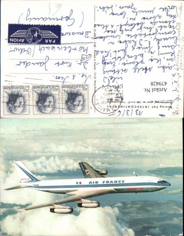 Boeing 707 Intercontinental Air France Flugzeug Aviatik
