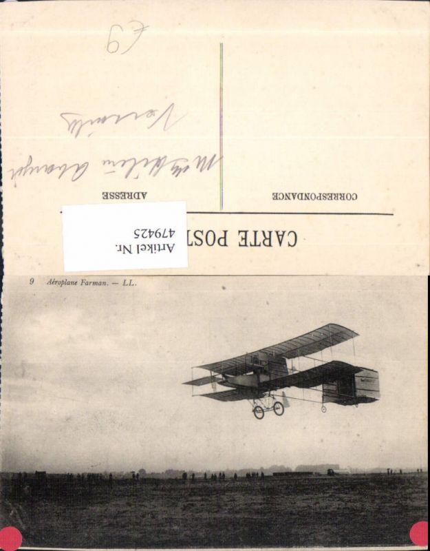 Aeroplane Farman Segelflugzeug Flugzeug Aviatik