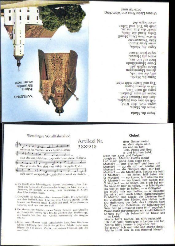 Andachtsbild Heiligenbildchen Klappbar Wemding Maria Brünnlein zum Trost