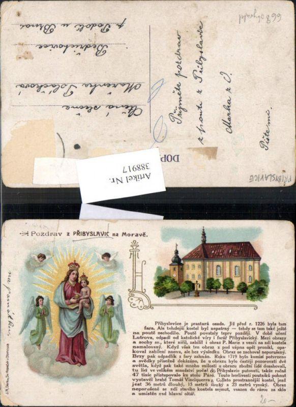 Andachtsbild Heiligenbildchen Pridyslavic na Morave Engel
