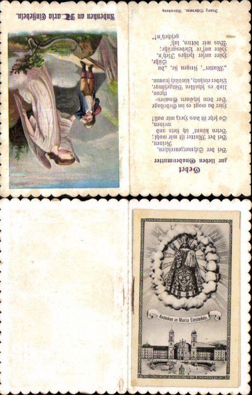 Andachtsbild Heiligenbildchen Büchlein Maria Einsiedeln Gnadenbild Engel