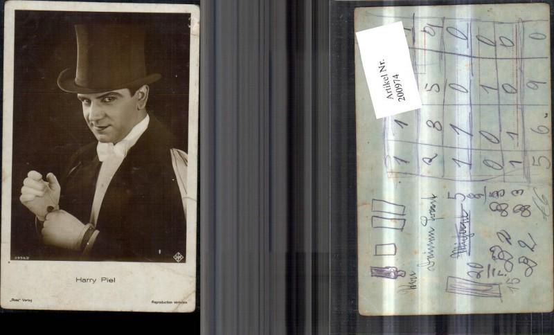 Harry Piel Portrait m. Zylinder Frack