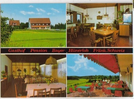2586;Gasthaus Bayer in Gößweinstein Hünerloh FARBE*