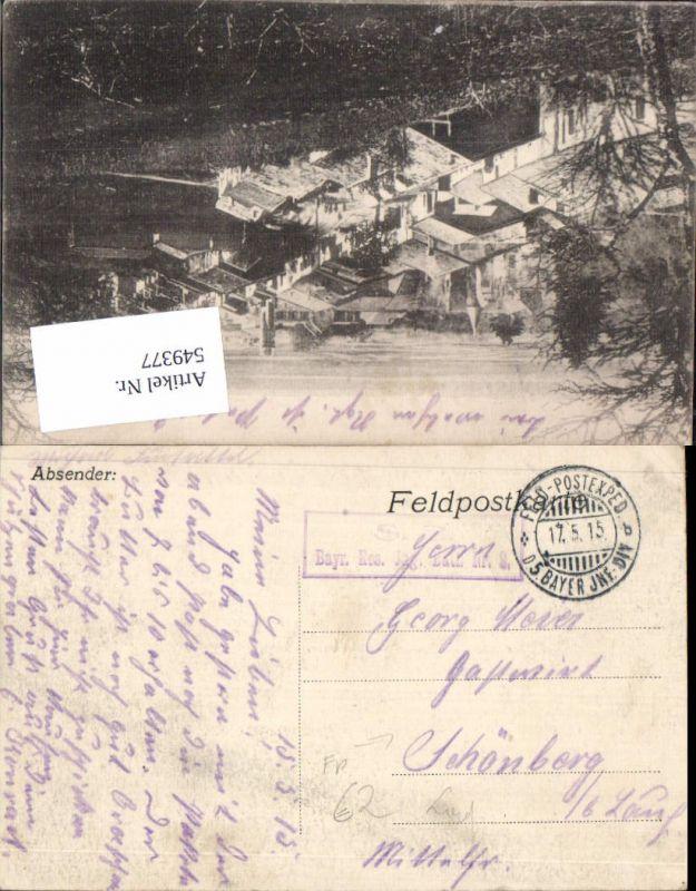 Deutsche Feldpost bayerische Inf. Div. 5. n. Schönberg b. Lauf Pegnitz