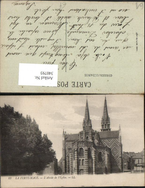 Basse-Normandie Orne La Ferte-Mace L'Abside de l'Eglise Kirche
