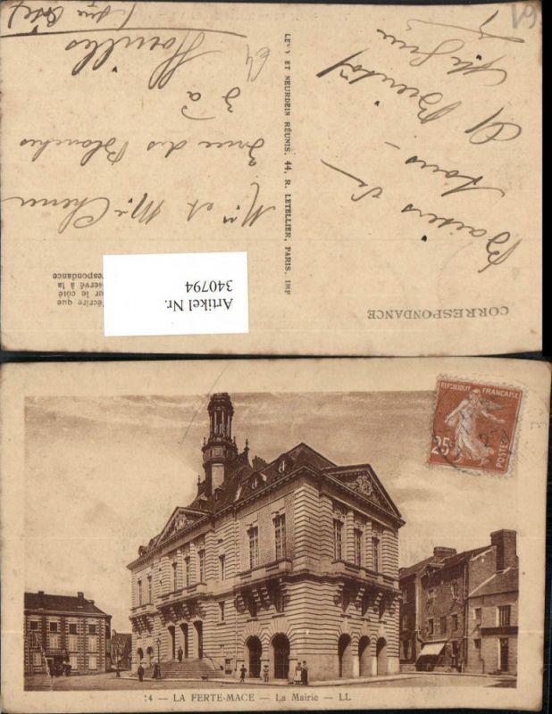 Basse-Normandie Orne La Ferte-Mace La Mairie Rathaus Gebäude