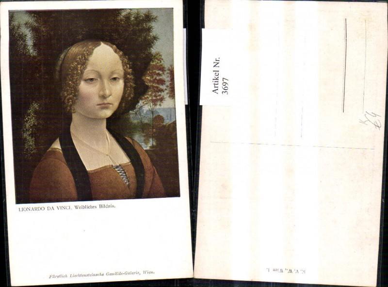 Künstler Ak Leonardo da Vinci Weibliches Bildnis