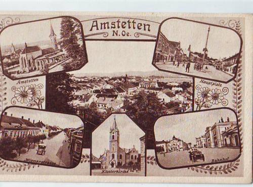 18556;Amstetten Bahnhof Wienerstrasse Mehrbild 1922