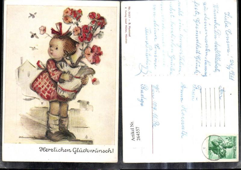 Künstler Ak Berta Hummel 5437 Mädchen m. Blumentopf