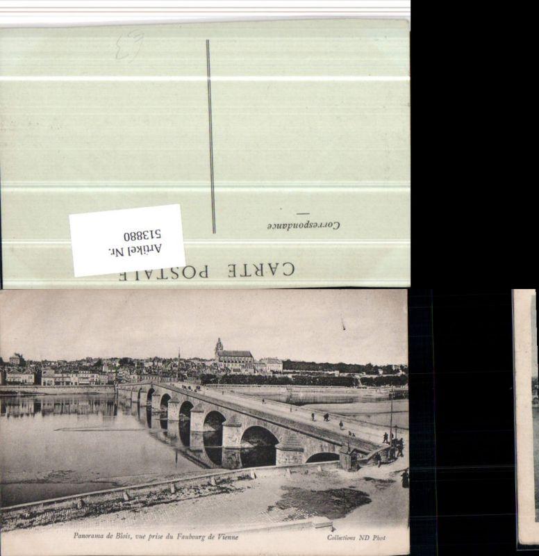 Blois vue prise du Faubourg de Vienne Brücke