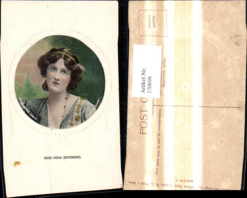 Miss Nina Sevening Portrait Präge Passepartout Schauspielerin Sängerin