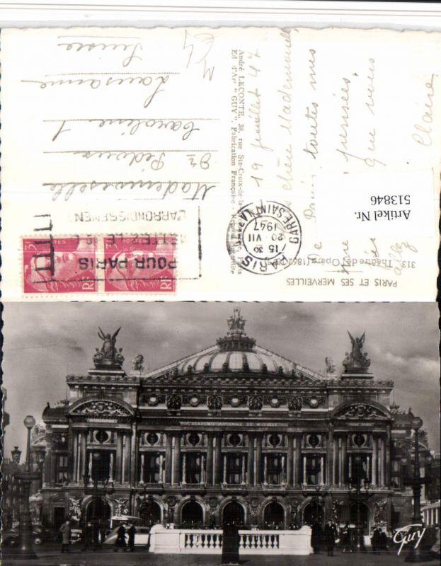 Paris Theatre de Opera Theater Oper Gebäude