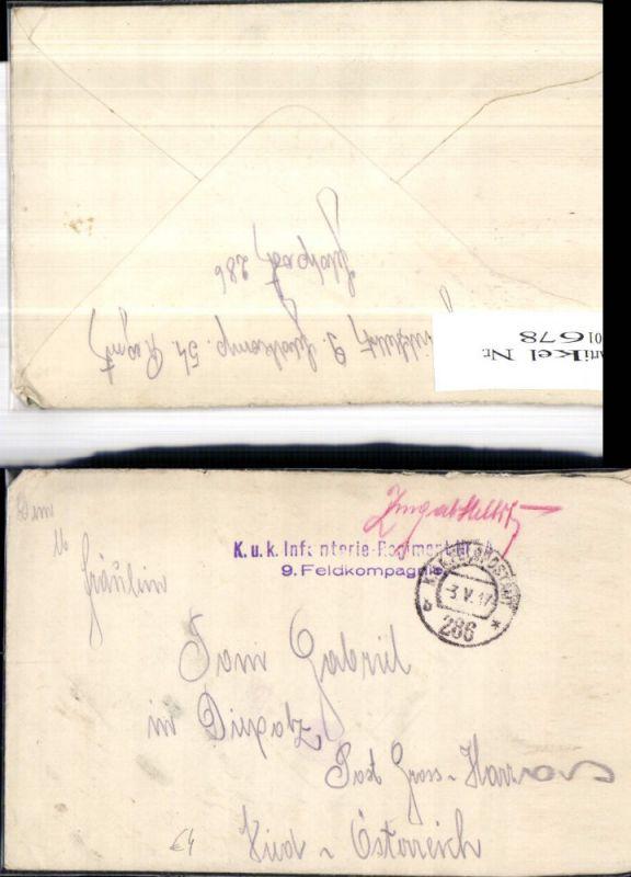 K.k. Feldpost 286 Infanterie Regiment 4 9. Feldkompagnie n. Großharras