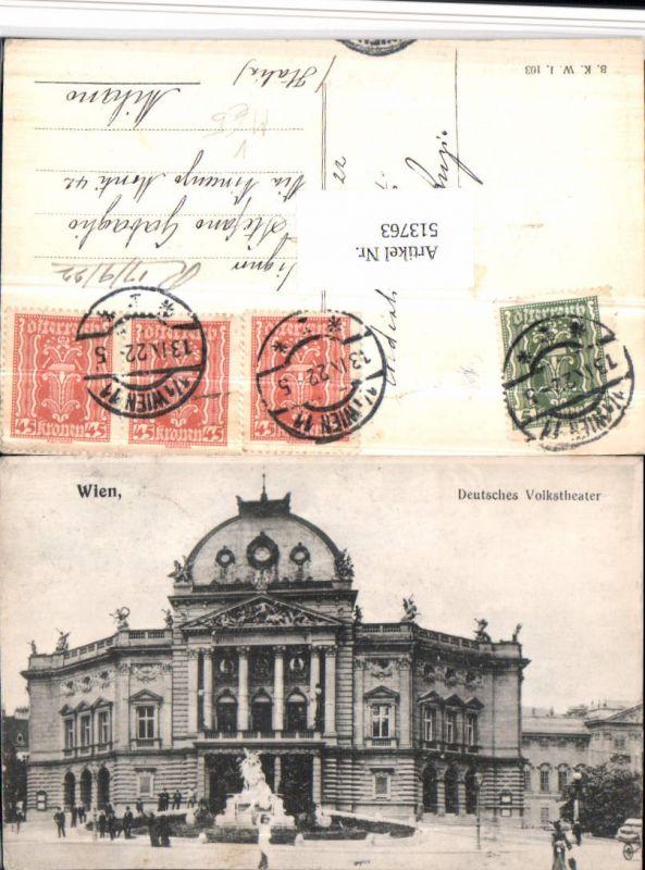 Wien Deutsches Volkstheater Theater pub B.K.W.I. 103