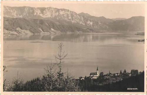 23923;Attersee Ortsansicht um 1940