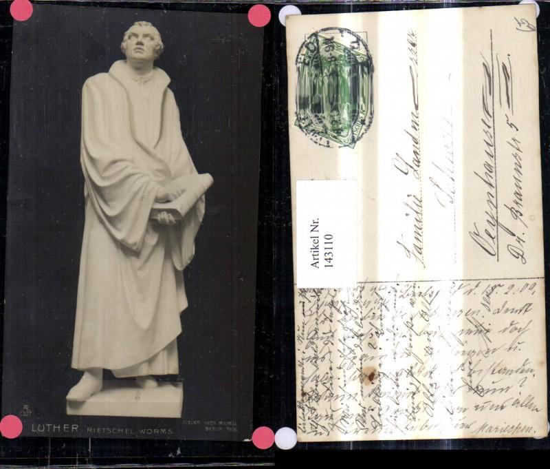 Künstler Ak Rietschel Worms Luther Statue Religion