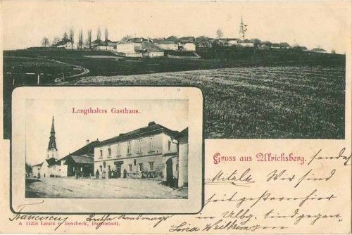23880;Gruss aus Ulrichsberg Langthalers Gasthaus 1899