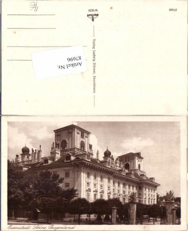 87696;Eisenstadt Partie am Schloss