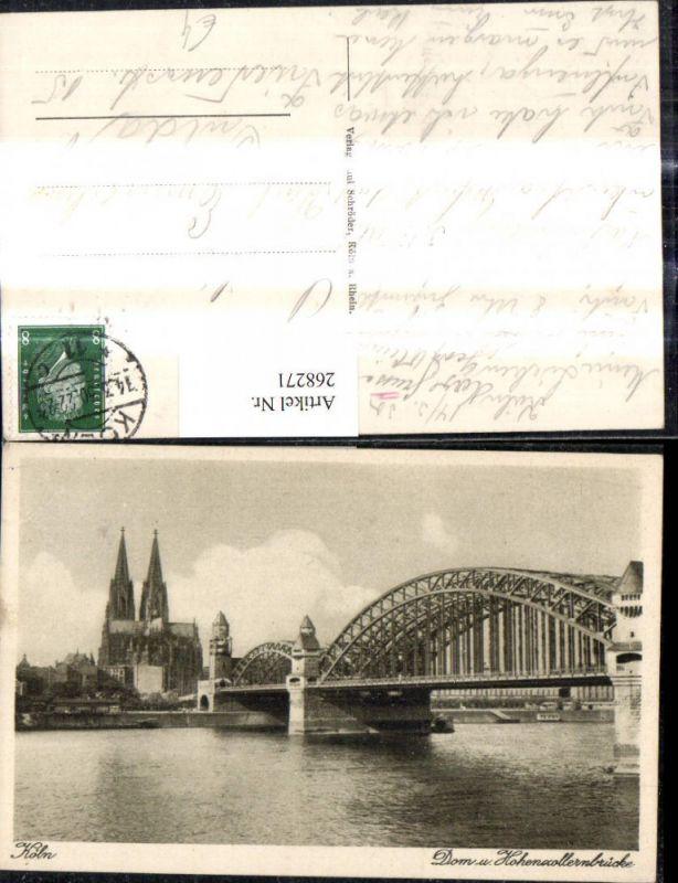 Köln Dom u. Hohenzollernbrücke Brücke